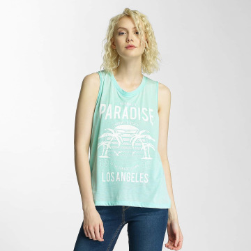 Brave Soul Tank Tops Printed Burn Out verde