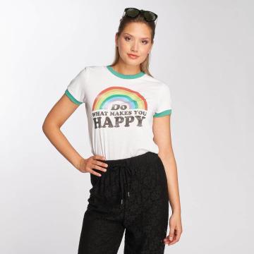 Brave Soul Tričká Happy biela