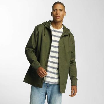 Brave Soul Übergangsjacke Snap Front Hooded Bonded khaki