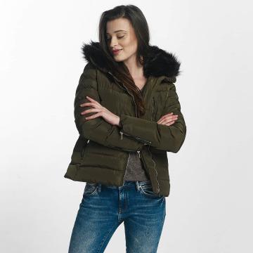 Brave Soul Winter Jacket Brave Soul Fur Collar Winter Jacket khaki