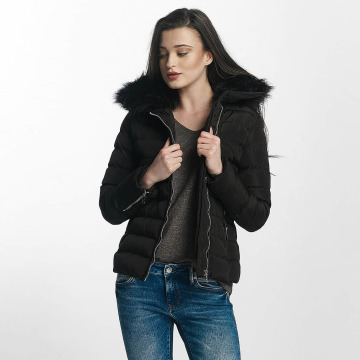 Brave Soul winterjas Brave Soul Fur Collar Winter Jacket zwart