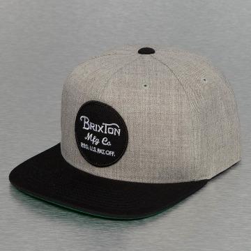 Brixton Snapback Cap Wheeler grey
