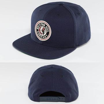 Brixton Snapback Caps Rival blå