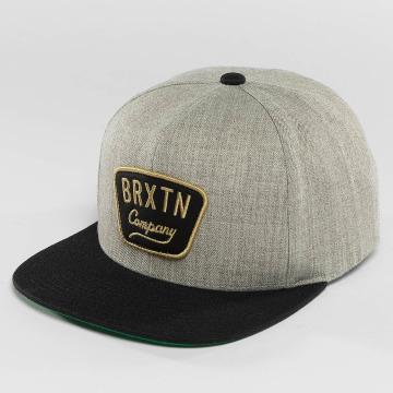Brixton Snapback Caps Gaston grå