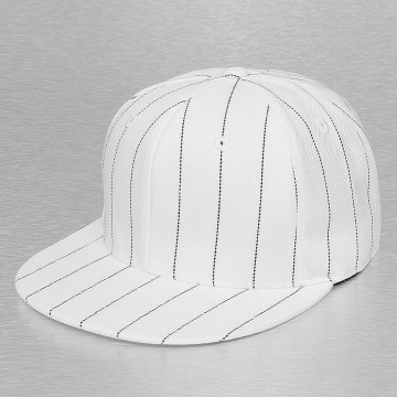 Cap Crony Casquette Fitted Pin Striped blanc