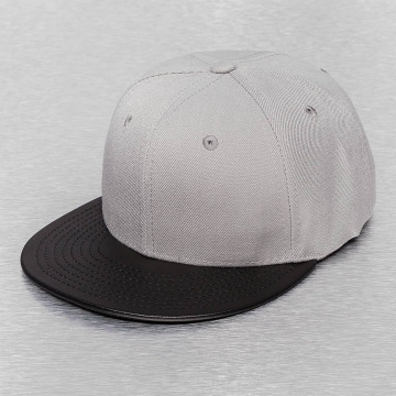 Cap Crony Snapback Cap Acrylic Vinyl grey