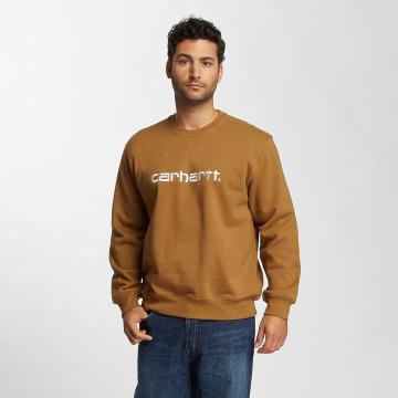 Carhartt WIP Пуловер frequenzy коричневый