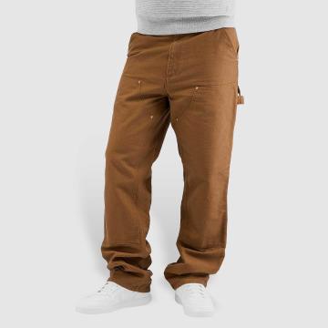 Carhartt WIP Dżinsy straight fit Turner Double Knee brazowy