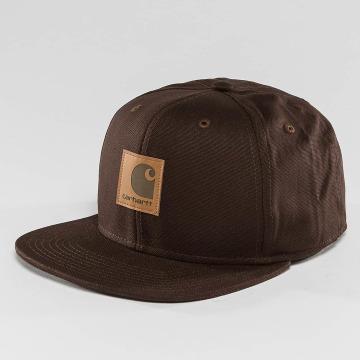 Carhartt WIP Snapback Cap Logo Canvas brown
