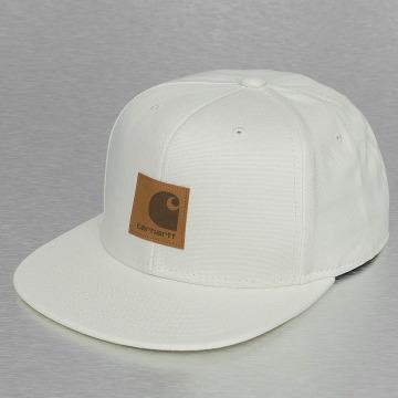 Carhartt WIP Snapback Caps Logo Canvas bialy