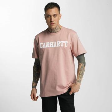 Carhartt WIP T-Shirty College rózowy