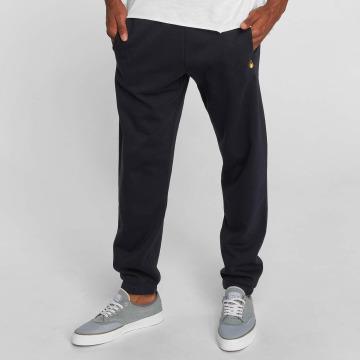 Carhartt WIP tepláky Chase Cotton/Polyester Heavy Sweat modrá