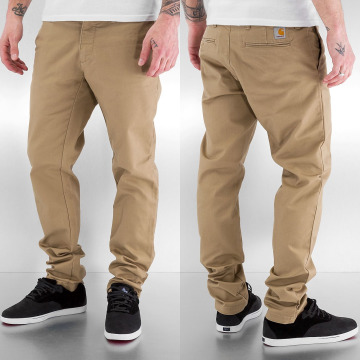 Carhartt WIP Tygbyxor Lamar Sid Super Slim Fit Leather beige