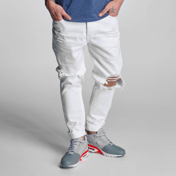 Cayler & Sons Jeans straight fit destroyed bianco