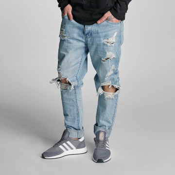 Cayler & Sons Jeans straight fit destroyed blu