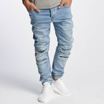 Cayler & Sons Slim Fit Jeans ALLDD Paneled Inverted Biker blau
