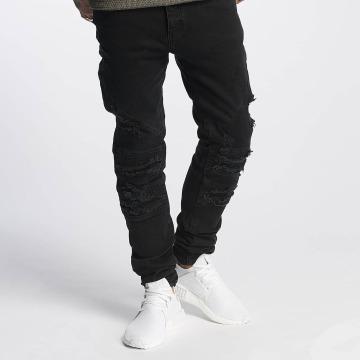Cayler & Sons Slim Fit Jeans ALLDD Paneled Inverted Biker nero