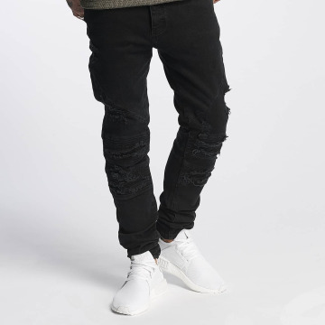 Cayler & Sons Slim Fit Jeans ALLDD Paneled Inverted Biker schwarz