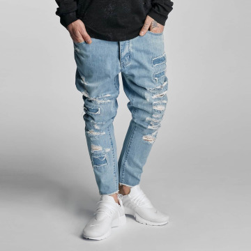 Cayler & Sons Straight Fit Jeans Raw blau
