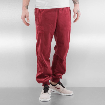 CHABOS IIVII Jogginghose Core Velour Samt rot