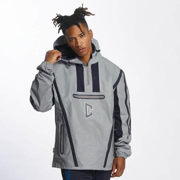 CHABOS IIVII Übergangsjacke Half Zip Hooded grau