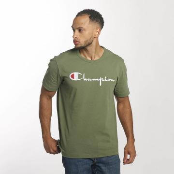 Champion Camiseta Cotton Graphic oliva