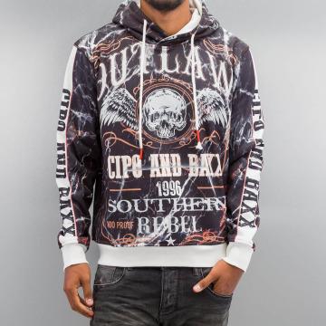 Cipo & Baxx Bluzy z kapturem Flying Skull szary