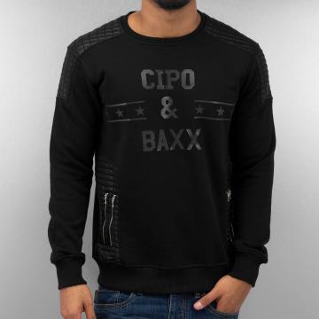 Cipo & Baxx Pullover Star schwarz