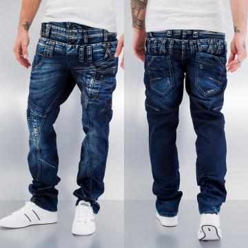 Cipo & Baxx Straight Fit Jeans Triple Collar blå