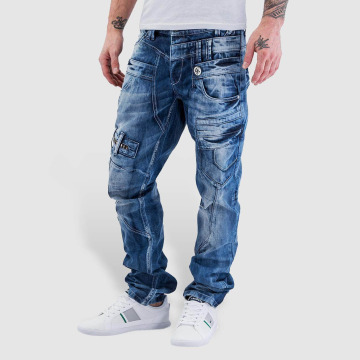 Cipo & Baxx Straight Fit Jeans Fred modrý