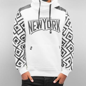 Cipo & Baxx Sweat capuche New York blanc