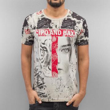 Cipo & Baxx T-Shirty Wildbeauty brazowy