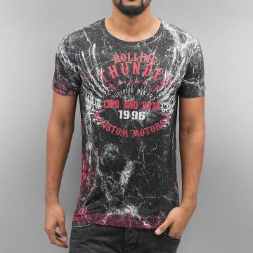 Cipo & Baxx T-Shirty Rolling Thunder czarny