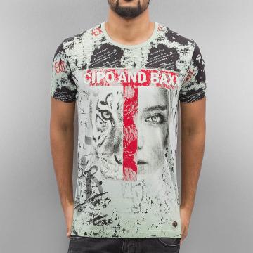 Cipo & Baxx T-Shirty Wildbeauty zielony