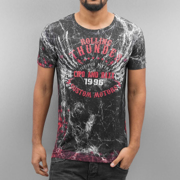 Cipo & Baxx T-skjorter Rolling Thunder svart
