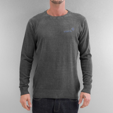 Clang Puserot Oilwashed Knitted harmaa