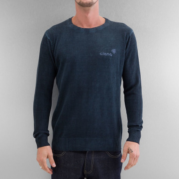 Clang trui Oilwashed Knitted blauw