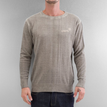 Clang trui Oilwashed Knitted khaki