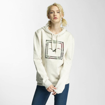 Cleptomanicx Hoody Floral Box beige