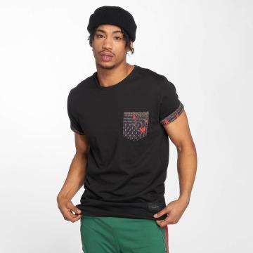 Criminal Damage Camiseta Avi Pocket negro