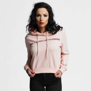 Criminal Damage Hoody Queen Crop rosa