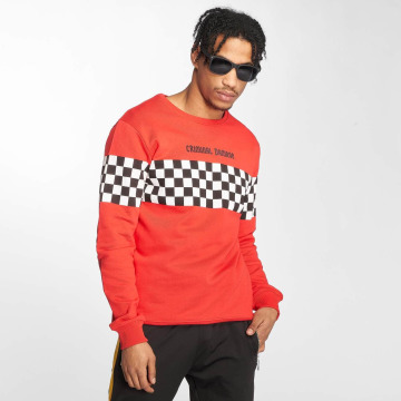 Criminal Damage Pullover Chequerboard red