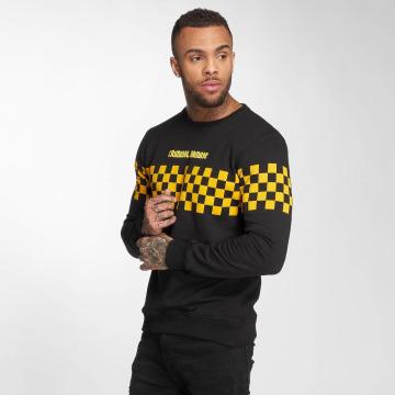 Criminal Damage Pullover Damage Chequerboard schwarz