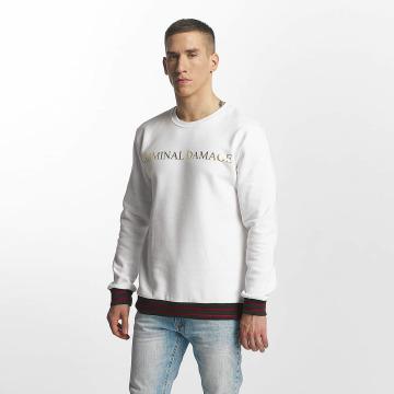 Criminal Damage Pullover Aldo weiß