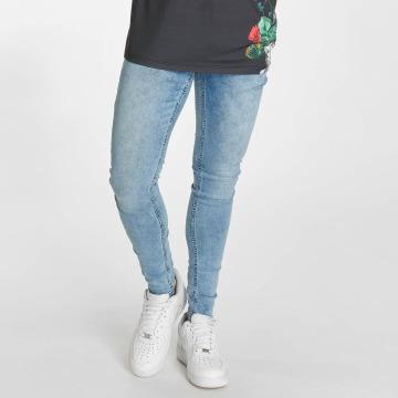 Criminal Damage Skinny Jeans Notting Spray blau