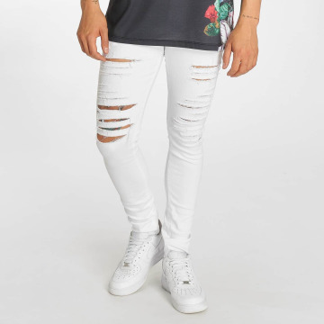 Criminal Damage Skinny Jeans Camden white