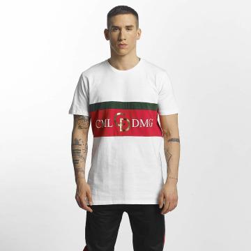 Criminal Damage T-Shirt Dolfo Logo white