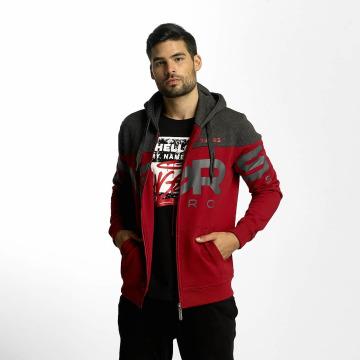 Dangerous DNGRS Hoodies con zip Two Tone rosso