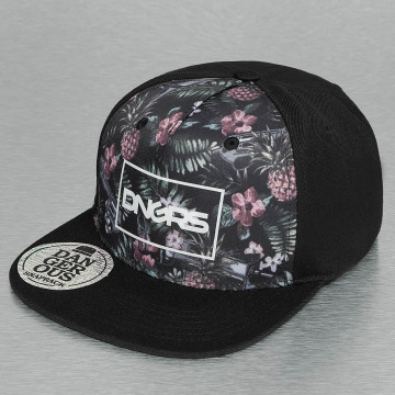 Dangerous DNGRS snapback cap Flower zwart
