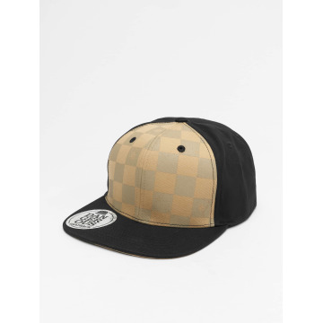 Dangerous DNGRS Snapback Caps Plaid brun